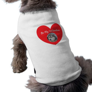 Dog Clothing Red Heart With Husky Be My Valentine