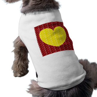 Dog Clothing Red Yellow Heart Glitter