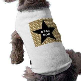 Dog Clothing Star Dog Black Star on Gold