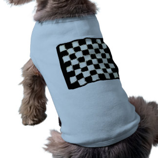 Dog Cltothing with Crocheted, Checkered Style Pet Shirt