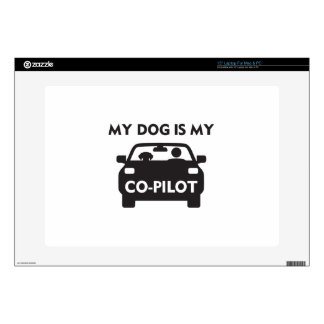 "Dog Co-Pilot Decal For 15"" Laptop"