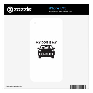 Dog Co-Pilot Decals For iPhone 4