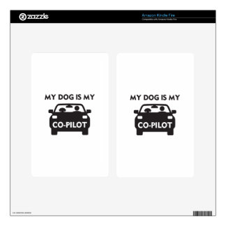Dog Co-Pilot Decals For Kindle Fire