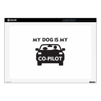 Dog Co-Pilot Decals For Laptops