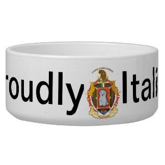 Dog Coat of Arms Bowl - Maltese Dog Bowl
