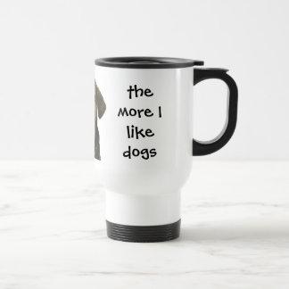 Dog cocking head travel mug