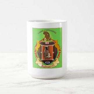 Dog coffee mug - Bullmastiff crest with background