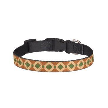 Aztec Themed Dog Collar with Aztec Design