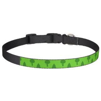 Dog Collar With Green Trees
