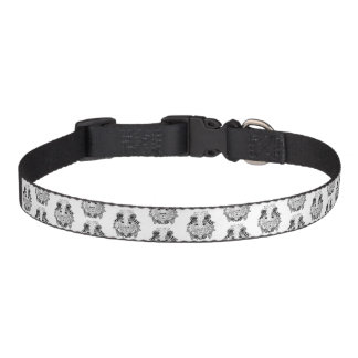 Dog collar with original lion art