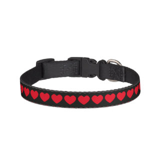 Dog Collar with Red Hearts