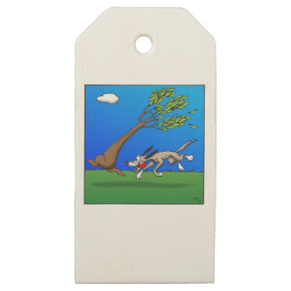 Dog Comic Wooden Gift Tags