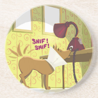 Dog Conehead Funny Coaster