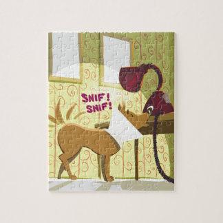 Dog Conehead Funny Jigsaw Puzzle