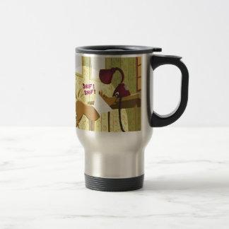 Dog Conehead Funny Travel Mug