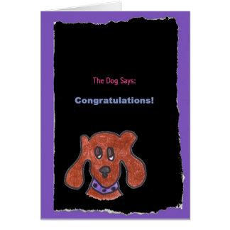 Dog / Congratulations Card