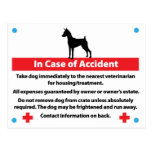 Dog Crate Card In Case of Emergency