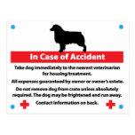 Dog Crate Card In Case of Emergency: Aussie