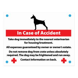 Dog Crate Card In Case of Emergency: Doberman