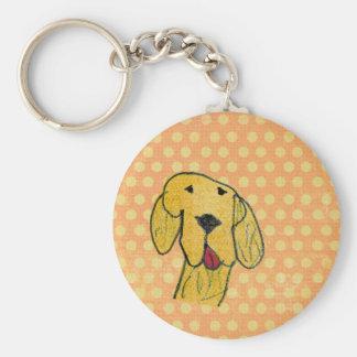 """Dog"" created by a child -Kids Art Design Key Chain"