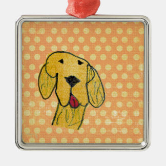"""Dog"" created by a child -Kids Art Design Metal Ornament"