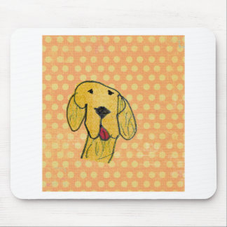 """""""Dog"""" created by a child -Kids Art Design Mouse Pad"""