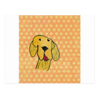 """Dog"" created by a child -Kids Art Design Postcard"