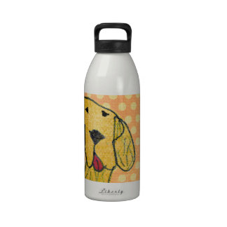 """""""Dog"""" created by a child -Kids Art Design Reusable Water Bottle"""