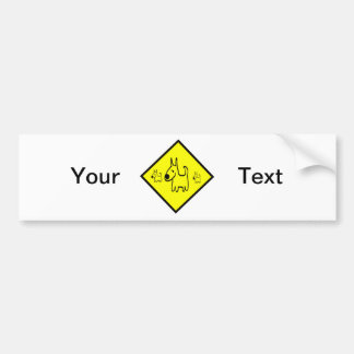 Dog Crossing Sign Car Bumper Sticker