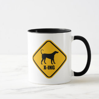 Dog Crossing Street Sign Mug