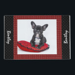 """Dog Custom Photo Name Placemat<br><div class=""""desc"""">Click Customize and then upload your photo. This  will put a smile on any pet lover&#39;s face. This would also  make a beautiful memory gift for a pet that has passed away</div>"""