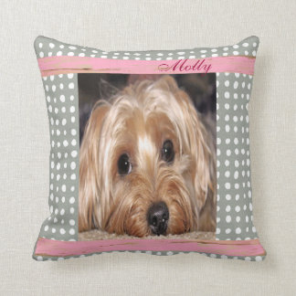 Dog Customizable Pet Photo Throw Pillow
