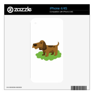 dog cute cartoon design decals for iPhone 4