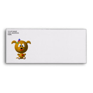 Dog: Cute dog with dragonfly! Envelopes