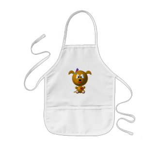 Dog: Cute dog with dragonfly! Kids' Apron