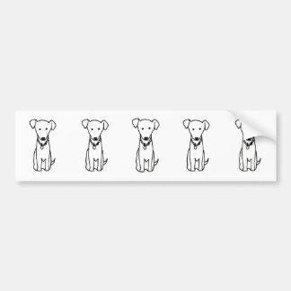 Dog - cute fun line drawing art logo design simple car bumper sticker