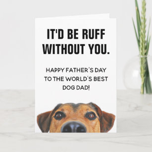 ee3e47cf6 Dog Fathers Day Cards   Zazzle