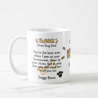 Dog Dad Funny Cute Mug Personalized Gifts For Men