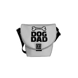Dog dad messenger bag