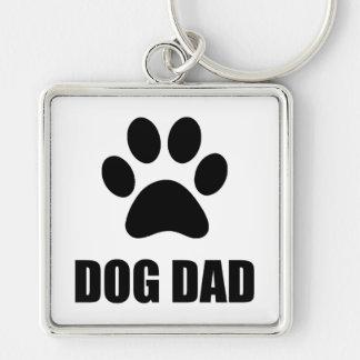 Dog Dad Paw Keychain