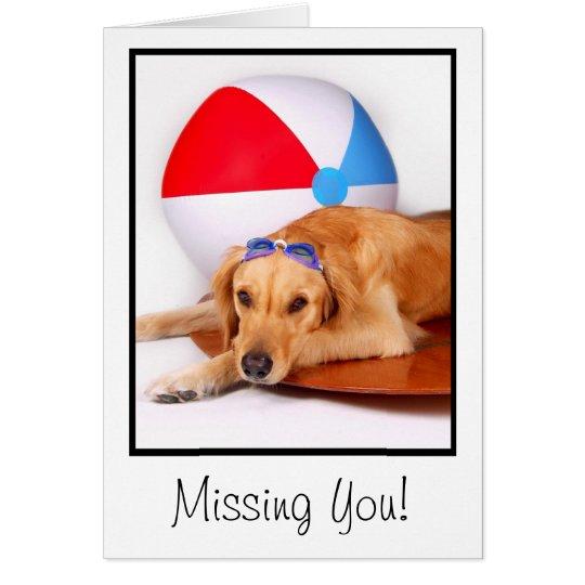 Dog Days of  Summer Golden Retriever Card