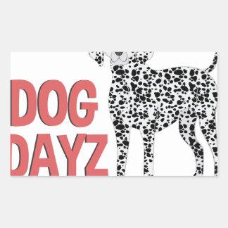 Dog Dayz Rectangular Sticker