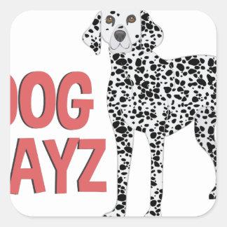 Dog Dayz Square Sticker