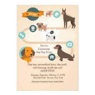 Dog Daze Adoption Invitation