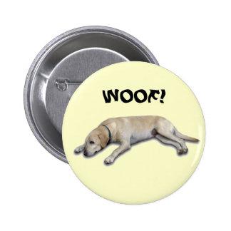 Dog Daze, WOOF! Pinback Buttons
