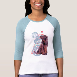 Dog design for a pink or baby blue shirt. shirt