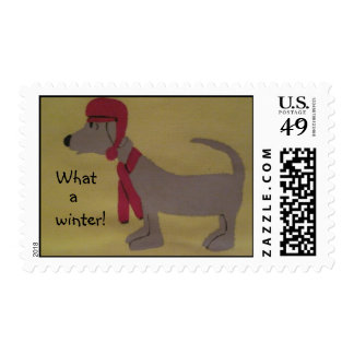 dog design postage stamps - What a winter!
