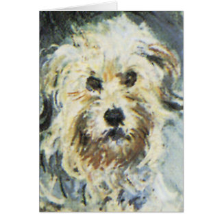 Dog Detail from Claude Monet Painting Stationery Note Card