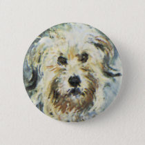 Dog Detail from Claude Monet Painting Pinback Button