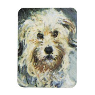 Dog Detail from Claude Monet Painting Rectangular Photo Magnet